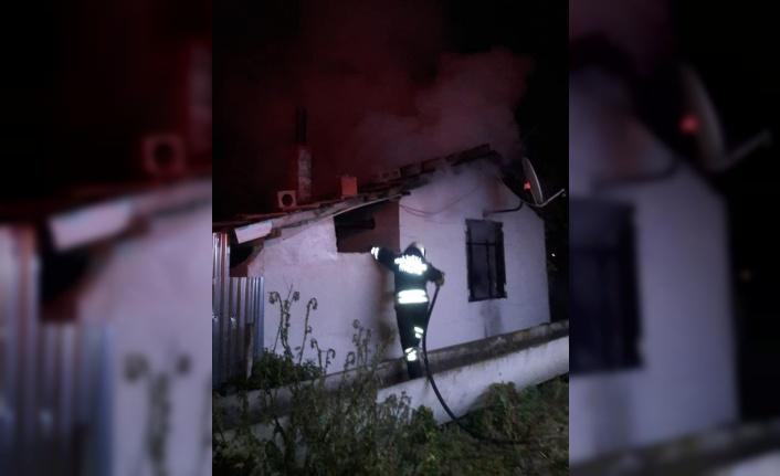 Bafra'da yangın