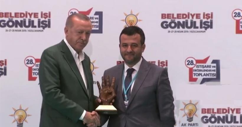 Cumhurbaşkanı Erdoğan'dan Halit Doğan'a Ödül