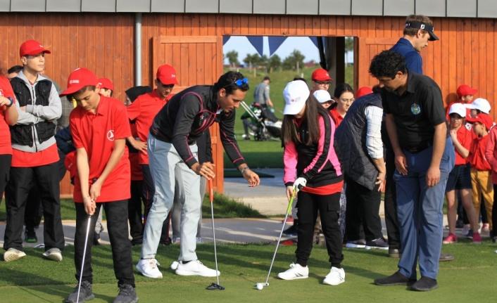 Golfün yıldızları, Samsun'da çocuklarla buluştu