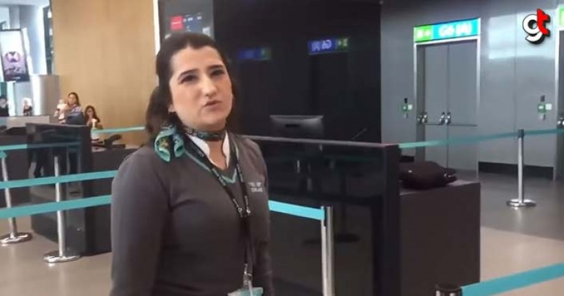 Hakarete uğrayan havalimanı çalışanı şikayetçi oldu