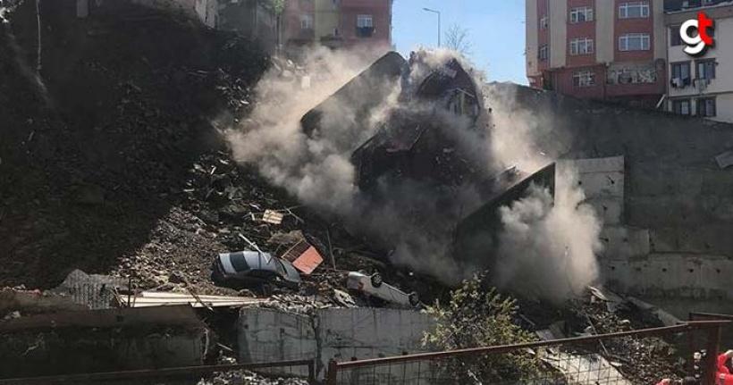 Kağıthanede Yıkılan Binanın Video Görüntüsü