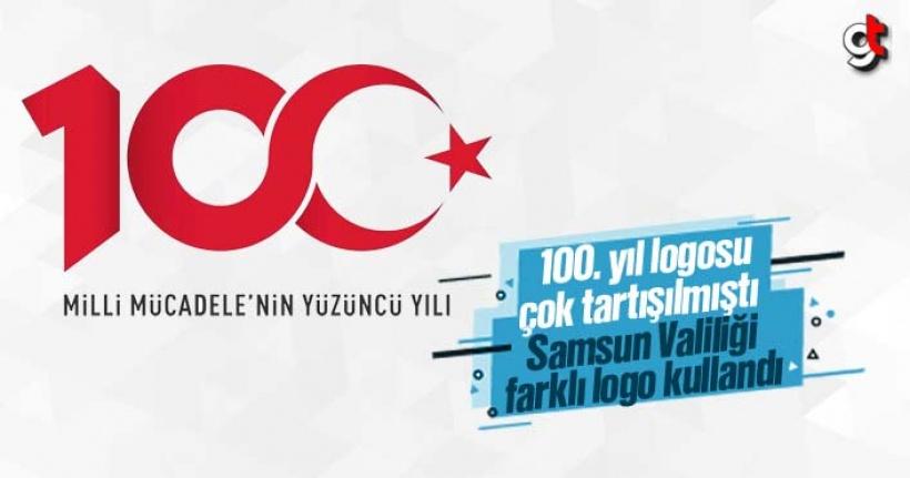 Samsun Valiliği'nin 100. Yıl Logosu Başka