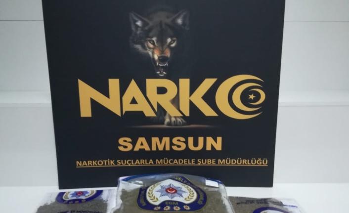 Samsun'da tarlada uyuşturucu saklayan zanlı tutuklandı