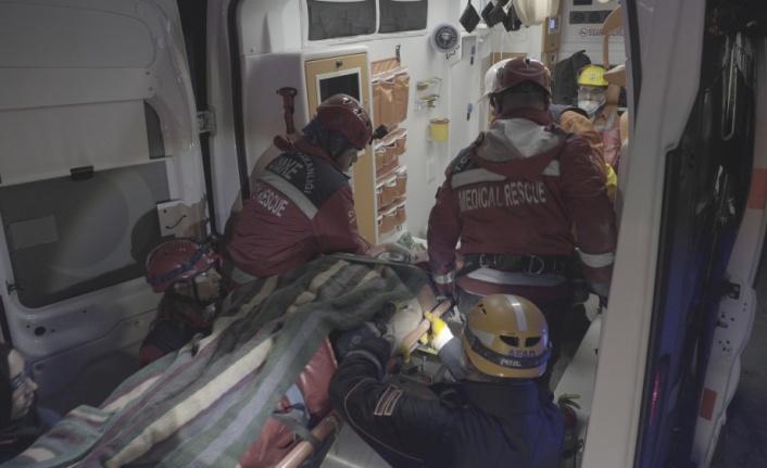 Yerin 850 metre altında kurtarma tatbikatı