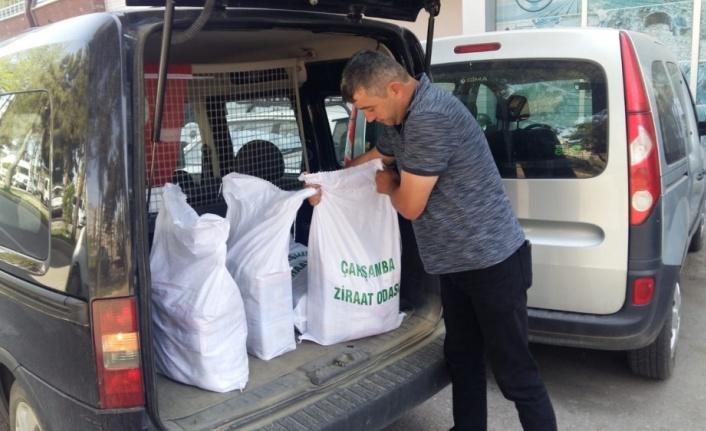 Çarşamba Ziraat Odasından ramazan yardımı