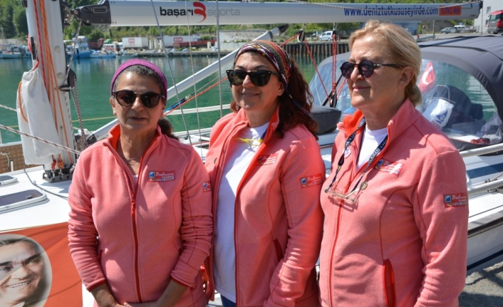 Karadeniz'de 3 kadın denizci