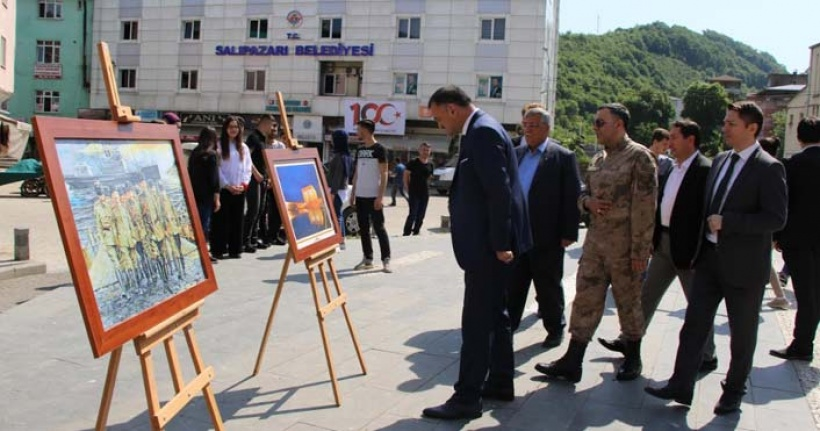Salıpazarı'nda Atatürk resim sergisi