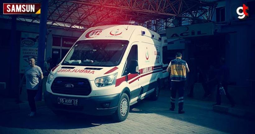 Samsun'da otomobil ile motosiklet kaza yaptı 1 kişi öldü