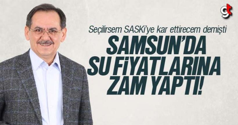 Samsun'da Su Fiyat Tarifesine Zam Geldi