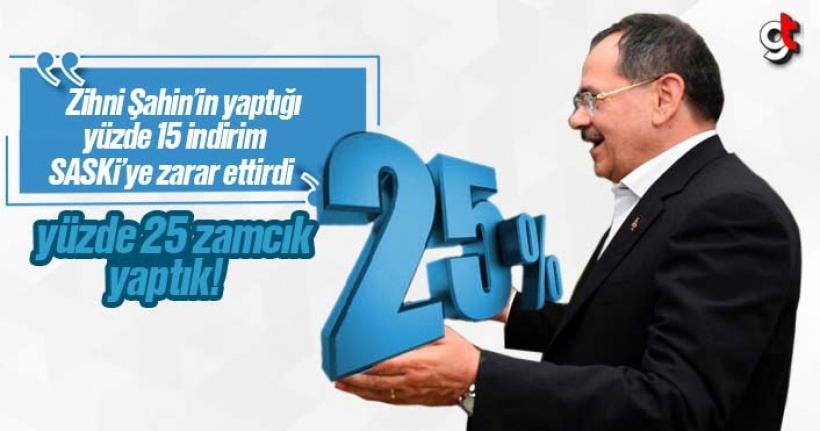 Samsun'da suya yapılan yüzde 25 zamcık