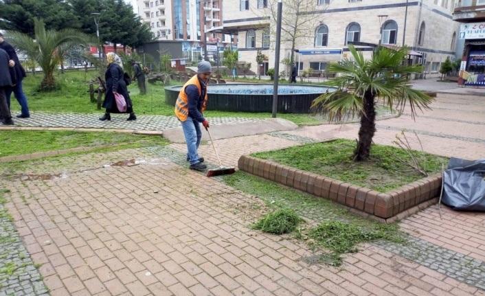 Terme'de park ve bahçelerde bahar temizliği