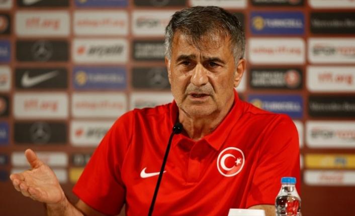 A Milli Futbol Takımı Teknik Direktörü Güneş: Beklentimiz güzel maç olsun