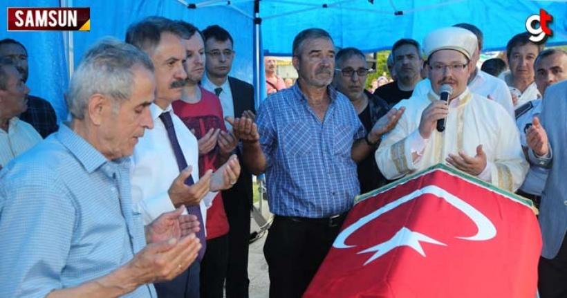 Atakum Belediyesi Zabıta Memuru Serhat Ağu'nun cenaze töreni