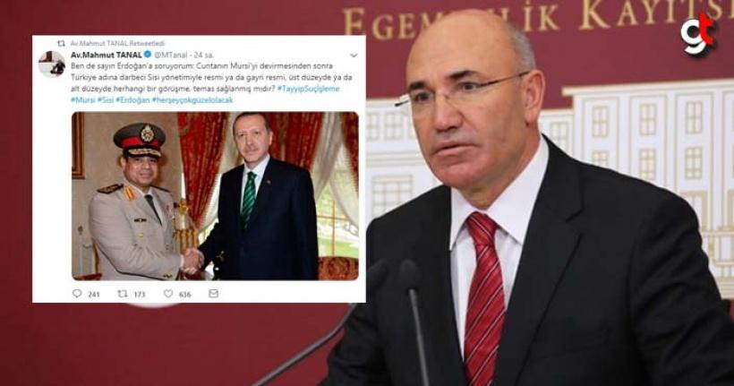 CHP'li Tanal'ın kara propagandası çöktü, Erdoğan ile Sisi'nin fotoğrafını paylaşmıştı
