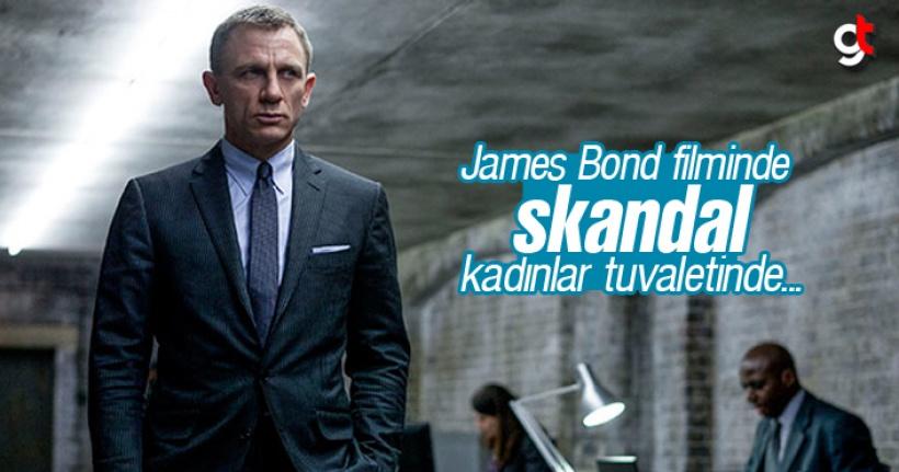 James Bond filminde kadınlar tuvaletine gizli kamera konulmuş