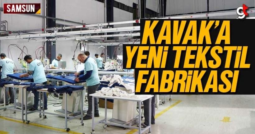 Kavak'a Şirin Tekstil Fabrikası Kurulacak