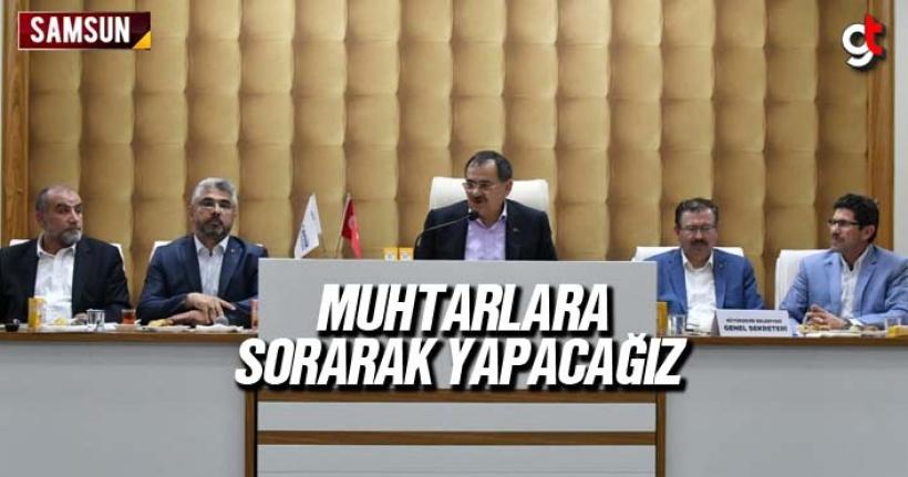 Mustafa Demir, 'Muhtarlara sorarak yapacağız'