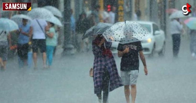 Samsun'da akşam saatlerinde şiddetli yağış uyarısı