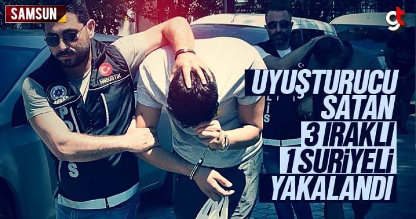 Samsun'da uyuşturucu satan 3 Iraklı 1 Suriyeli yakalandı