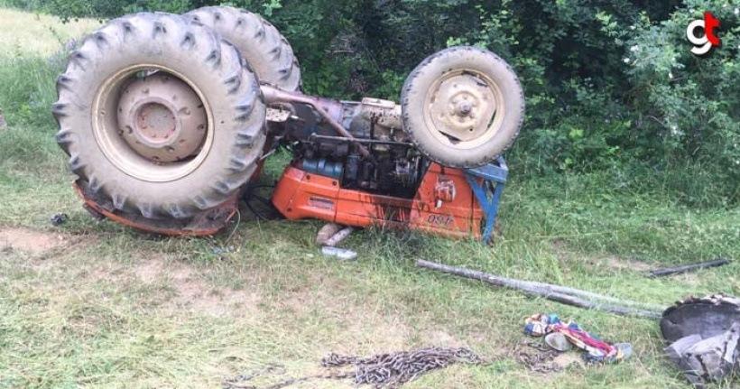 Traktör devrildi 1 kişi öldü 3 kişi yaralandı