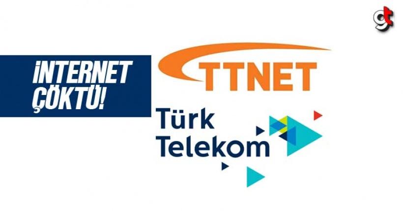 TTnet internet, Türk Telekom internet çöktü