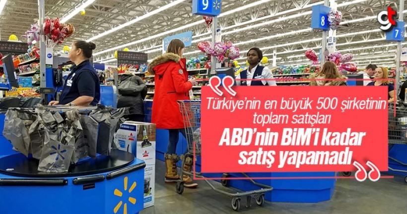 Türkiye'nin en büyük 500 şirketinin toplamı bir Walmart etmedi