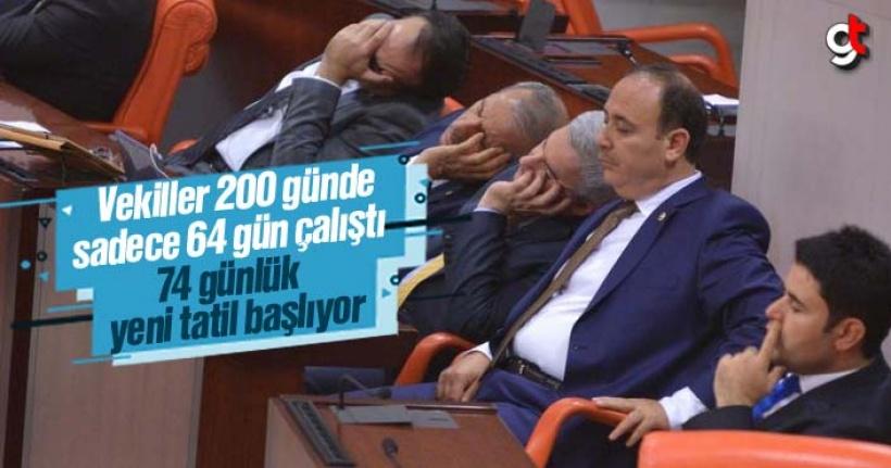 Yılbaşından beri sadece 64 gün çalışan milletvekilleri 74 gün tatil yapacak