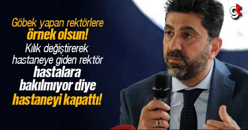 Adnan Menderes Üniversitesi Rektörü Osman Selçuk Aldemir, kılık değiştirerek denetim yaptığı hastaneyi kapattı