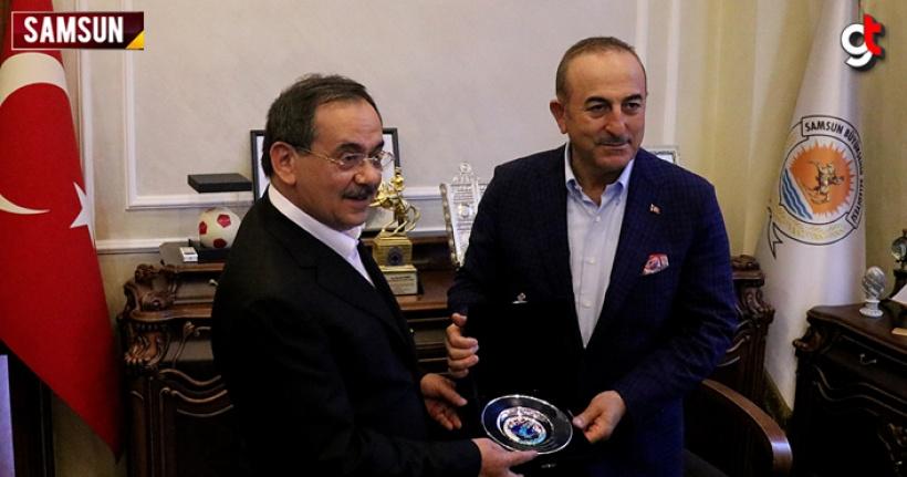 Dışişleri Bakanı Mevlüt Çavuşoğlu Samsun'a geldi