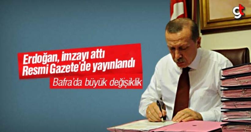 Resmi Gazete'de yayınlandı, Bafra değişiyor