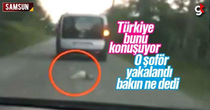 Samsun'da ki bu görüntülerdeki şoför yakalandı