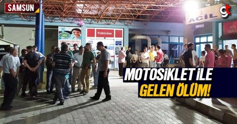 Samsun Haber: Motosiklet 59 yaşındaki kişinin canını aldı