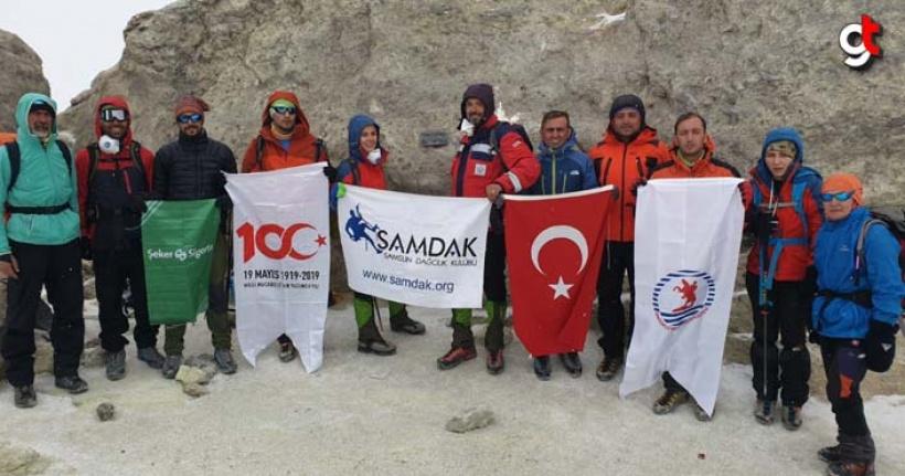 Samsunlu Dağcılar (Samdak) Demavend ve Savalan Dağı'na tırmandı
