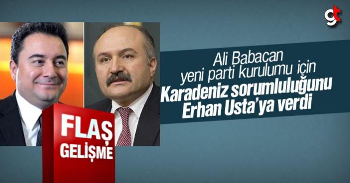 Ali Babacan, yeni parti kurulumu için Karadeniz sorumluluğunu Erhan Usta'ya verdi