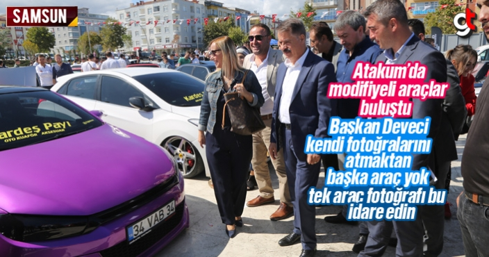 Modifiye araç tutukunları Samsun Atakum'da buluştu