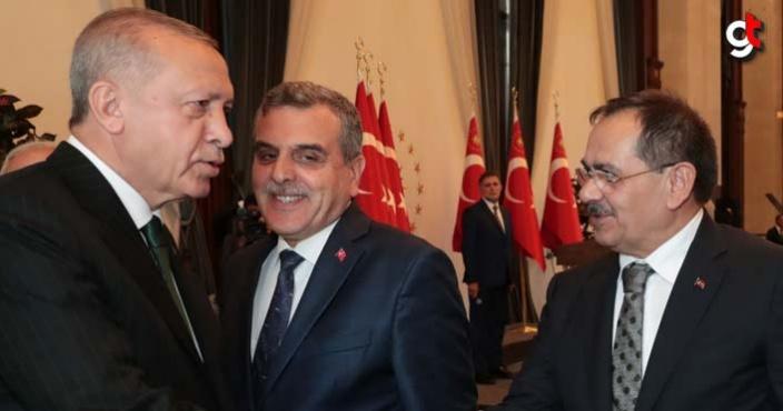 Mustafa Demir, külliyede Cumhurbaşkanı Erdoğan ile görüştü