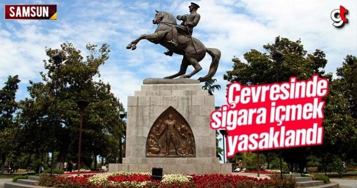 Samsun Atatürk Heykeli çevresinde sigara içmek yasaklandı