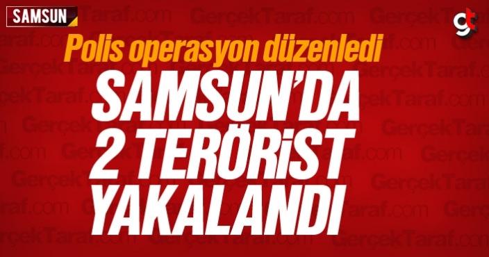 Samsun'da 2 terörist yakalandı