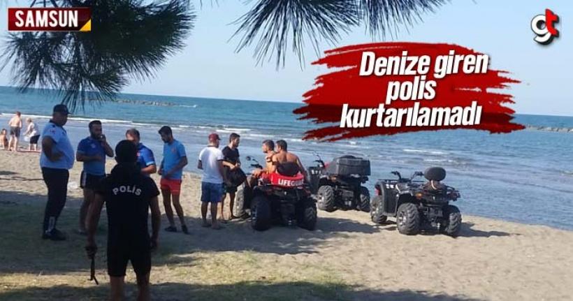 Samsun'da denize giren polis boğuldu