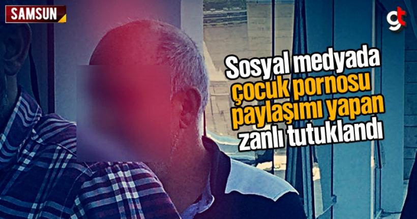 Samsun'da sosyal medyada çocuk pornosu paylaşımı yapan zanlı tutuklandı