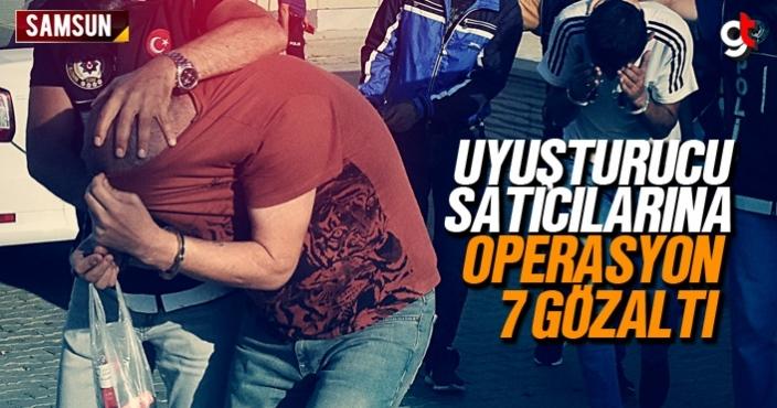 Samsun'da uyuşturucu satıcıları gözaltına alındı