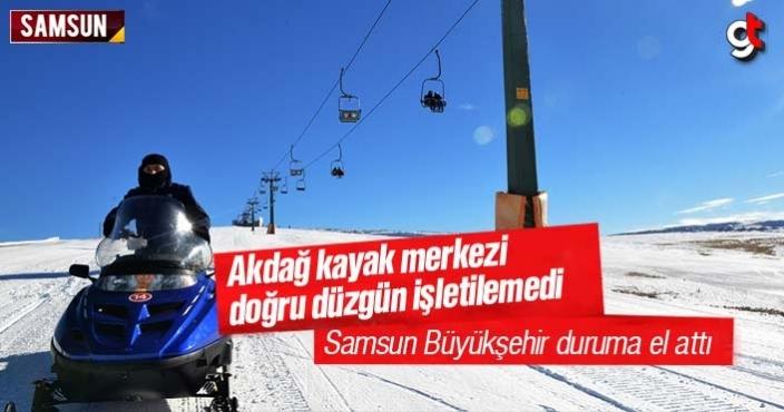 Samsun Ladik Akdağ Kayak Merkezi doğru düzgün işletilemedi