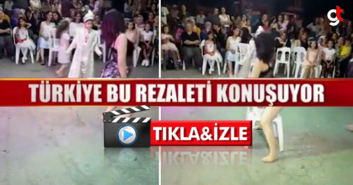 Sünnet Düğününde  twerk dansı yapan bir kadın videosu
