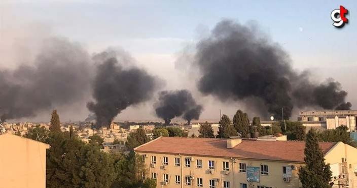 Barış Pınarı Harekatında Tel Abyad'daki terör hedefleri ateş altında video