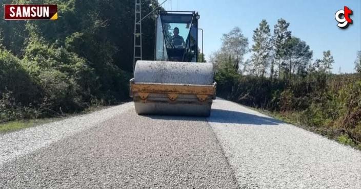 Çarşamba Belediyesi 7 ayda 230 km yol çalışması yaptı