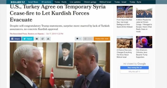 İsrail gazetesi: 'Türkiye istediğini aldı'