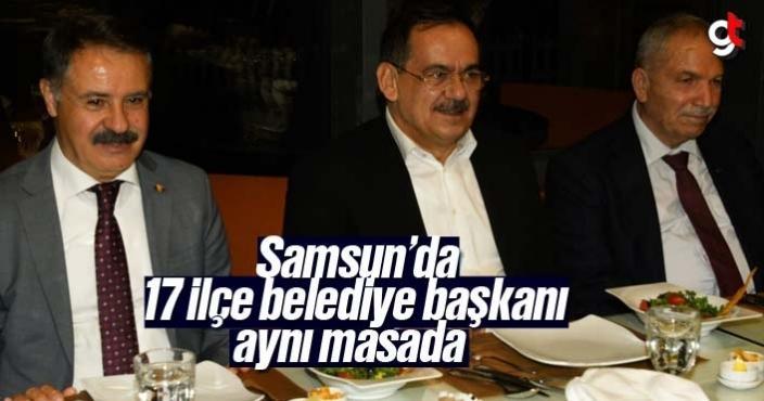 Mustafa Demir, 17 ilçe belediye başkanı ile aynı masada