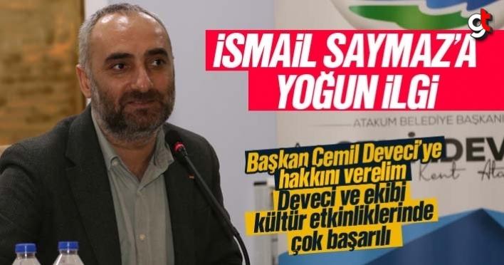 Atakum'da Gazeteci Yazar, İsmail Saymaz'a yoğun ilgi