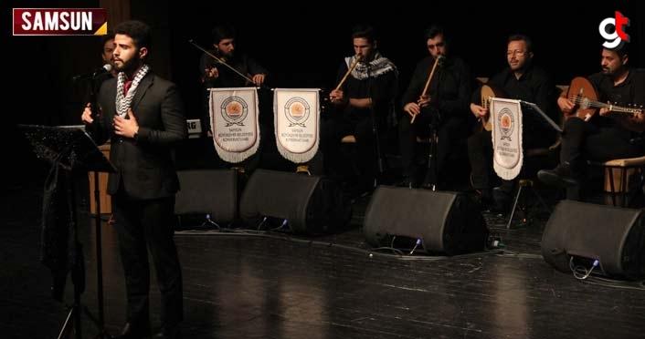 """Filistinli Gençler Samsun'da """"Kardeşlik Ezgileri"""" seslendirdi"""