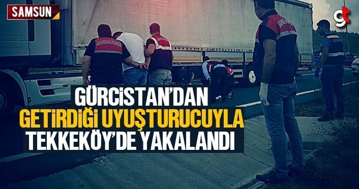 Gürcistan'dan getirdiği uyuşturucu ile Tekkeköy'de yakalandı
